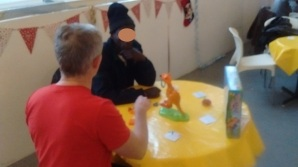 Fun & games at the Christmas Day drop in in Kinning Park